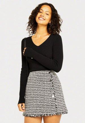 Пуловер Miss Selfridge. Цвет: черный
