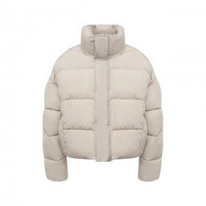 Пуховая куртка Balenciaga. Цвет: кремовый