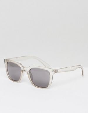 Солнцезащитные очки в квадратной оправе Gate Weekday. Цвет: прозрачный
