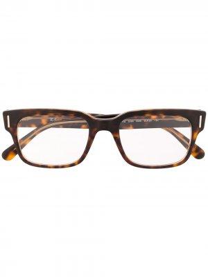 Очки в квадратной оправе черепаховой расцветки Ray-Ban. Цвет: коричневый