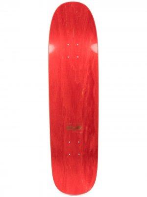 Скейтборд с принтом PACCBET. Цвет: красный