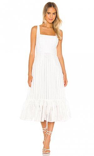 Платье миди sorrento NBD. Цвет: белый