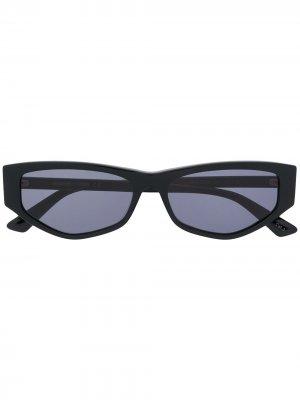 Солнцезащитные очки в геометричной оправе McQ Swallow. Цвет: черный