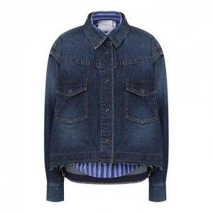 Джинсовая куртка Sacai. Цвет: синий