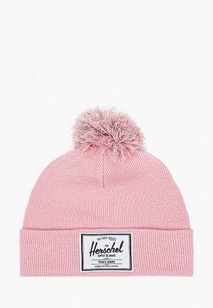 Шапка Herschel Supply Co Abbott Youth Pom. Цвет: розовый
