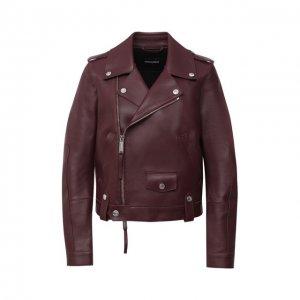 Кожаная куртка Dsquared2. Цвет: красный