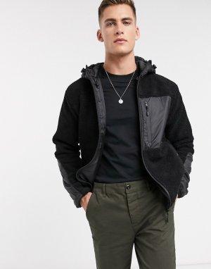 Черная куртка с искусственным мехом -Черный Bellfield