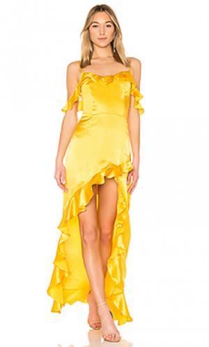 Платье peony Amanda Uprichard. Цвет: желтый