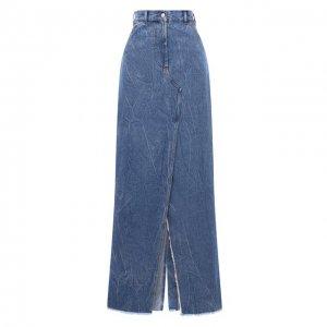 Джинсовая юбка Dries Van Noten. Цвет: синий