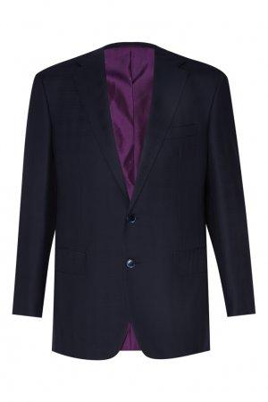 Серый костюм Cerruti. Цвет: синий