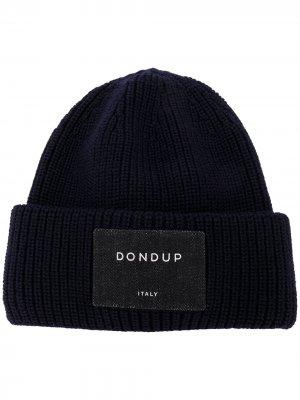 Ribbed-knit wool beanie Dondup. Цвет: синий