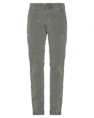 Повседневные брюки JACOB COHЁN. Цвет: зеленый-милитари