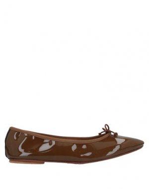 Балетки BAGLLERINA. Цвет: коричневый