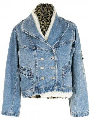 Комплект из джинсовой куртки и двух жилетов Nk. Цвет: синий