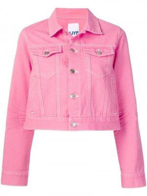 Укороченная джинсовая куртка SJYP. Цвет: розовый
