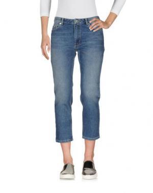Джинсовые брюки-капри FRENCH CONNECTION. Цвет: синий