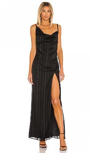 Платье reyna Camila Coelho. Цвет: черный