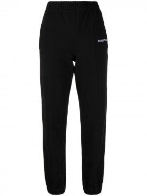 Спортивные брюки с логотипом Helmut Lang. Цвет: черный