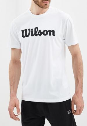Футболка спортивная Wilson M UWII SCRIPT TECH TEE. Цвет: белый