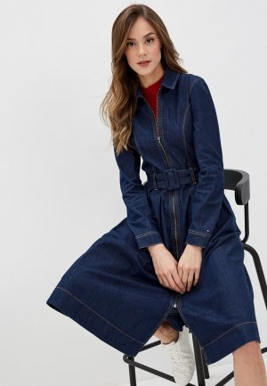 Платье джинсовое Tommy Hilfiger. Цвет: синий