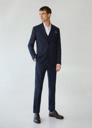 Костюмные брюки slim fit - Brasilia Mango. Цвет: глубокий темно-синий
