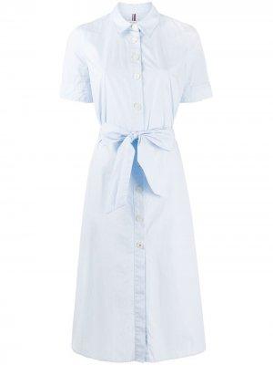 Платье-рубашка с короткими рукавами Tommy Hilfiger. Цвет: синий