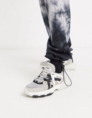 Черно-белые кроссовки -Многоцветный Bronx