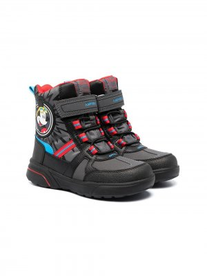 Ботинки на липучках Geox Kids. Цвет: серый