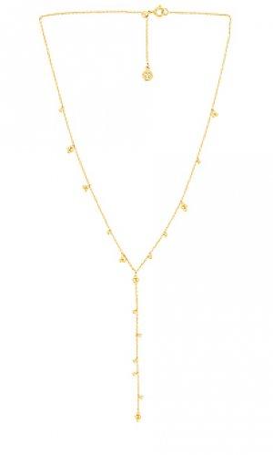 Ожерелье costa lariat gorjana. Цвет: металлический золотой
