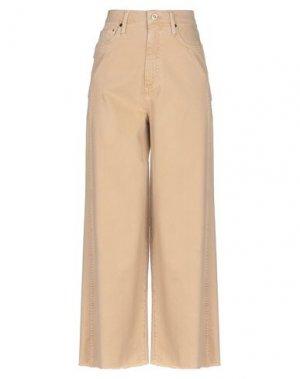 Джинсовые брюки MALÌPARMI. Цвет: бежевый