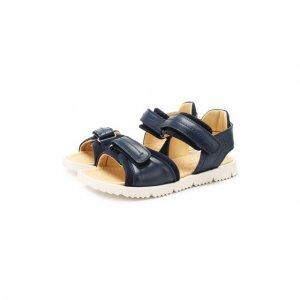 Кожаные сандалии Montelpare Tradition. Цвет: синий