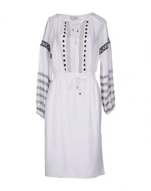 Платье до колена ALTUZARRA. Цвет: белый