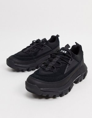 Черные кроссовки на шнуровке CAT raider-Черный Footwear