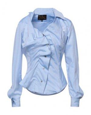 Pубашка VIVIENNE WESTWOOD ANGLOMANIA. Цвет: пастельно-синий