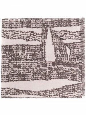 Graphic-print wool-blend scarf Acne Studios. Цвет: нейтральные цвета