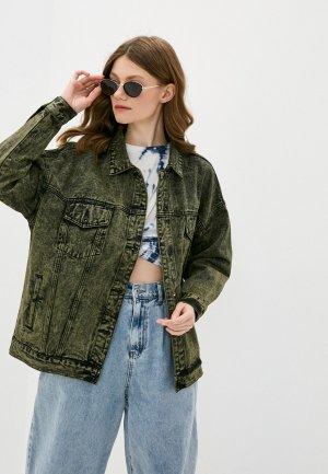 Куртка джинсовая Befree. Цвет: зеленый