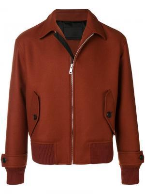 Куртка-бомбер Prada. Цвет: красный