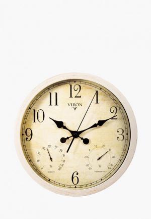 Часы настенные Viron. Цвет: бежевый