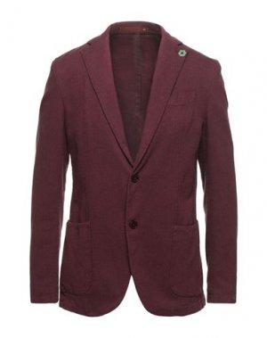 Пиджак GABARDINE. Цвет: красно-коричневый
