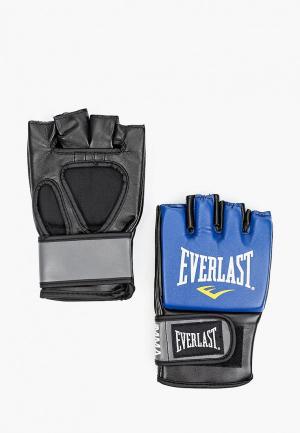 Перчатки боксерские Everlast Pro Style Grappling. Цвет: синий