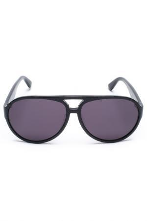 Очки солнцезащитные Salvatore Ferragamo. Цвет: черный
