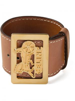 Кафф с золотистой бляшкой Céline Pre-Owned. Цвет: коричневый