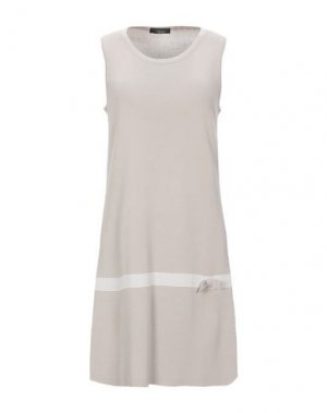 Короткое платье ALJSSA. Цвет: песочный