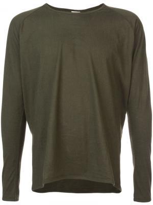 Однотонная футболка с длинными рукавами Jan Van Essche