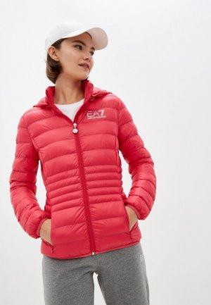 Куртка утепленная EA7. Цвет: розовый