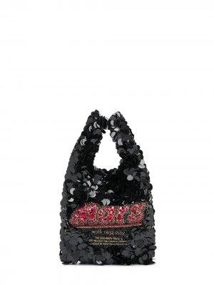 Маленькая сумка-тоут Mars Bar Anya Hindmarch. Цвет: черный