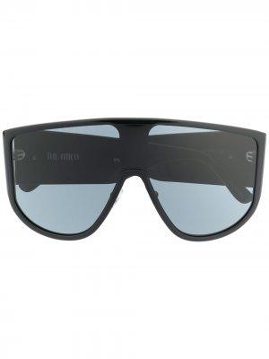 Солнцезащитные очки Iman из коллаборации с Linda Farrow The Attico. Цвет: черный