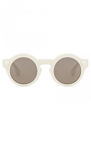 Солнцезащитные очки round accetate Christopher Kane. Цвет: белый