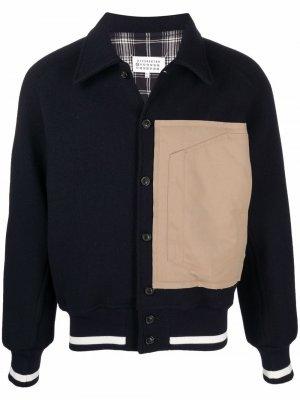 Куртка-рубашка на пуговицах Maison Margiela. Цвет: синий