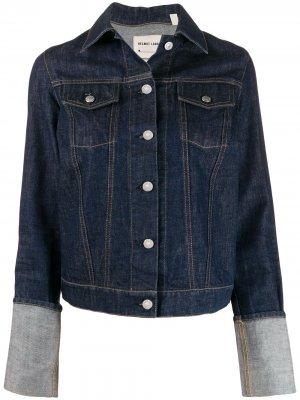 Джинсовая куртка 1999-го года с подворотами на рукавах Helmut Lang Pre-Owned. Цвет: синий